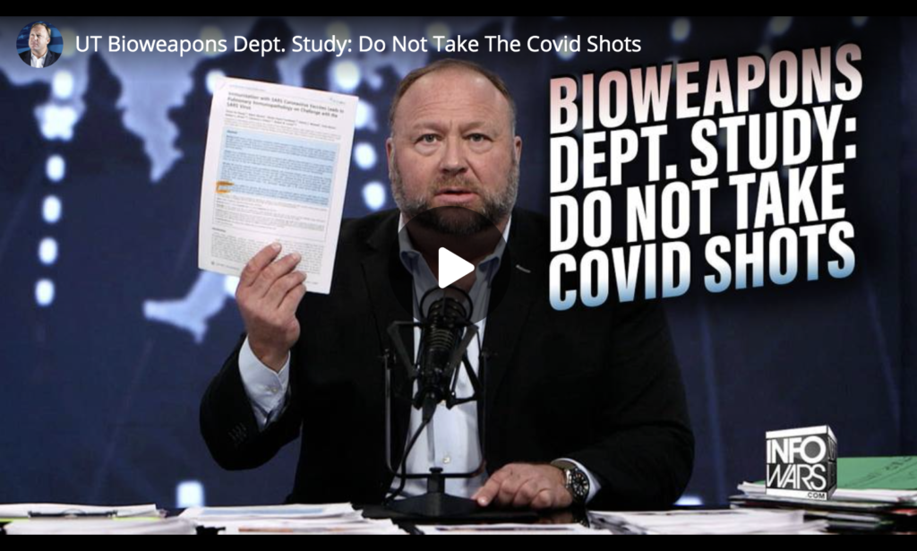 UT Bioweapons Dept Study Do Not Take The Covid Shots EXZM Zack Mount May 6th 2021