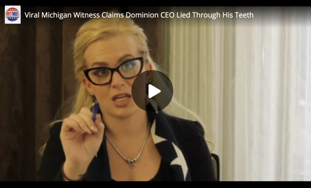 Viral Michigan Witness Claims Dominion CEO Lied Through His Teeth EXZM Zack Mount December 17th 2020 2