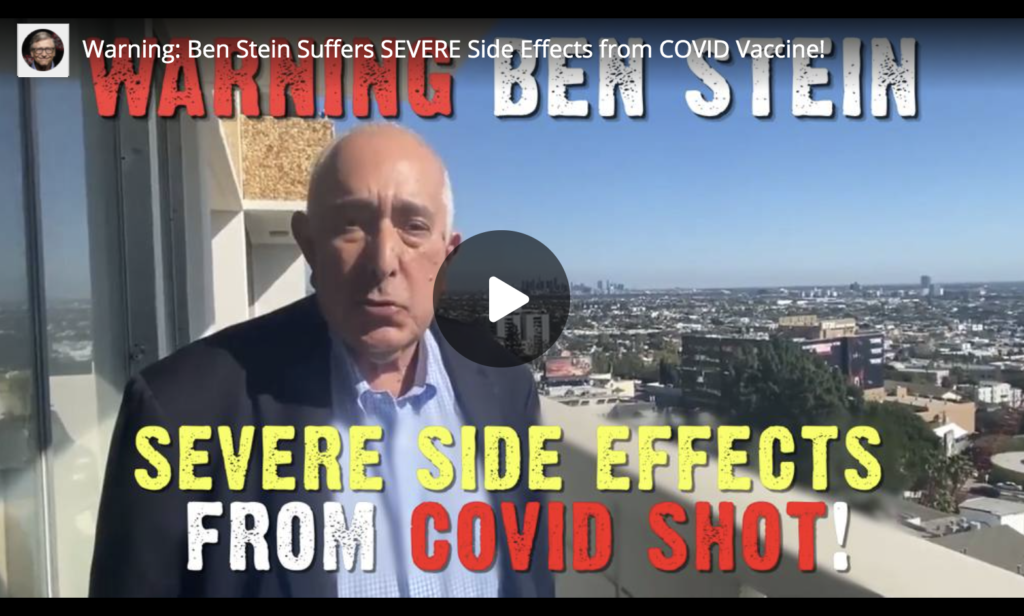 Warning Ben Stein Suffers SEVERE Side Effects from COVID Vaccine EXZM Zack Mount March 5th 2021