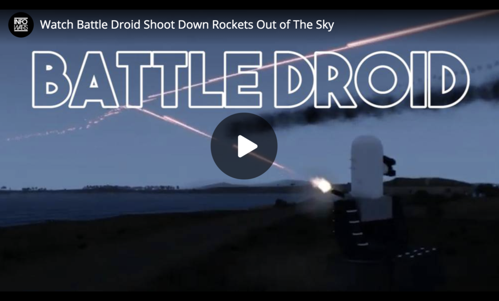 Watch Battle Droid Shoot Down Rockets Out of The Sky EXZM Zack Mount June 7th 2021