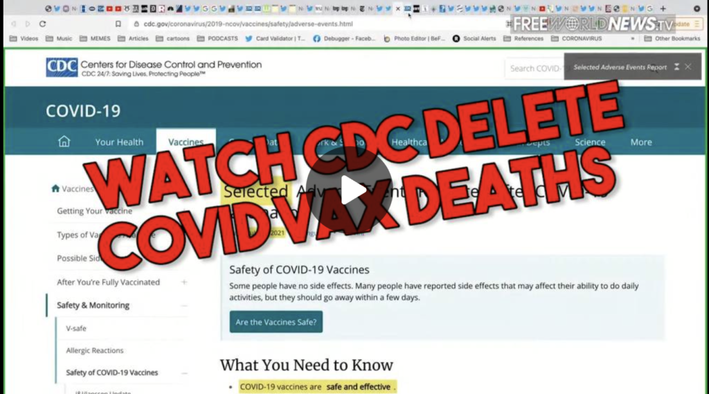 Watch CDC Delete Thousands of COVID Vax Deaths In Real Time EXZM Zack Mount July 22nd 2021