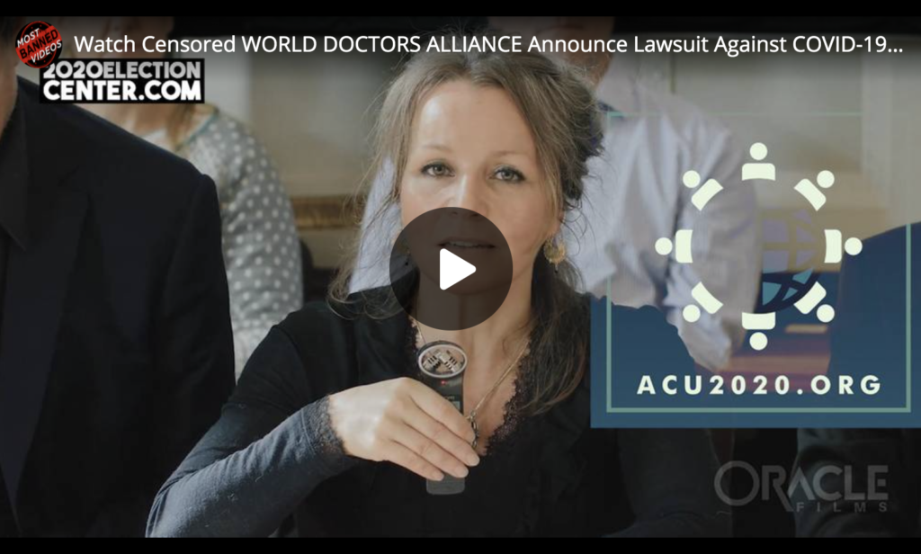 Watch Censored WORLD DOCTORS ALLIANCE Announce Lawsuit Against COVID19 Global Lockdown EXZM Zack Mount October 16th 2020