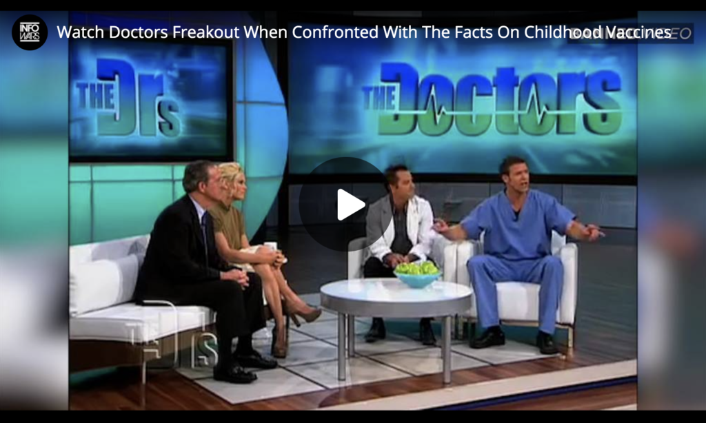 Watch Doctors Freakout When Confronted With The Facts On Childhood Vaccines EXZM Zack Mount July 9th 2021