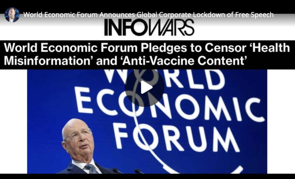 World Economic Forum Announces Global Corporate Lockdown of Free Speech EXZM Zack Mount July 1st 2021