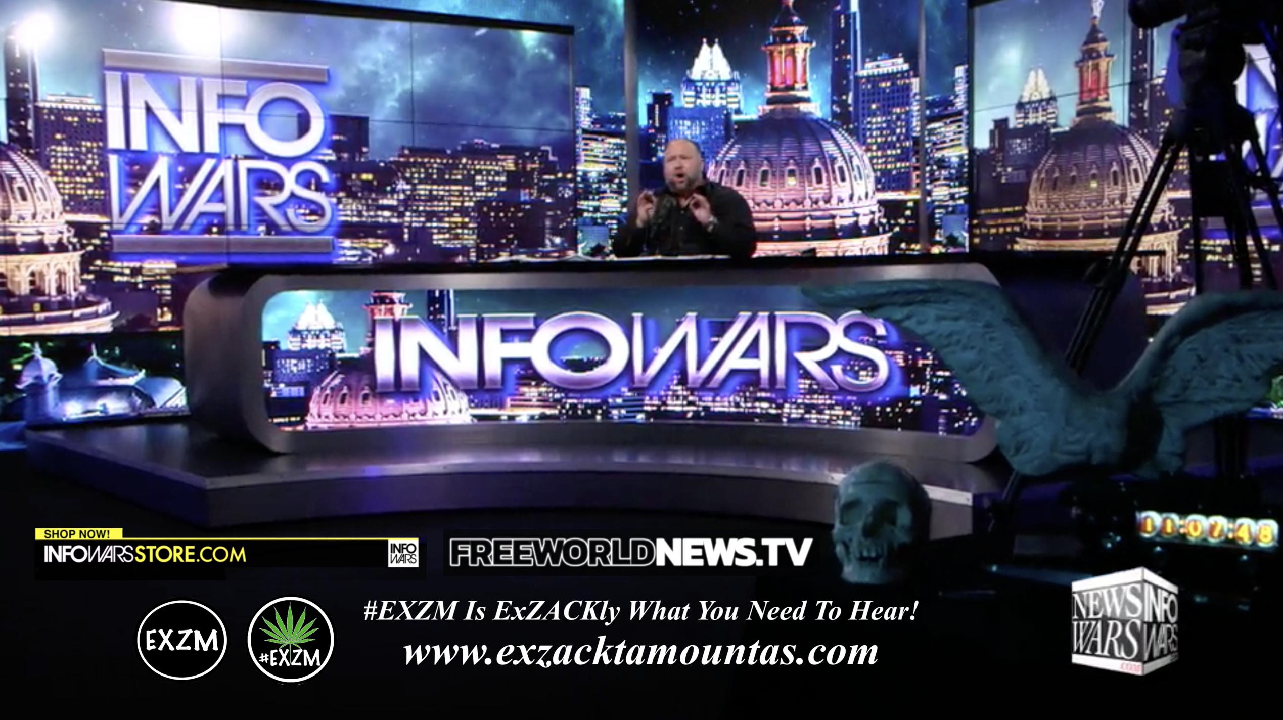 Alex Jones Live In Infowars Studio Free World News TV EXZM Zack Mount August 10th 2021 copy