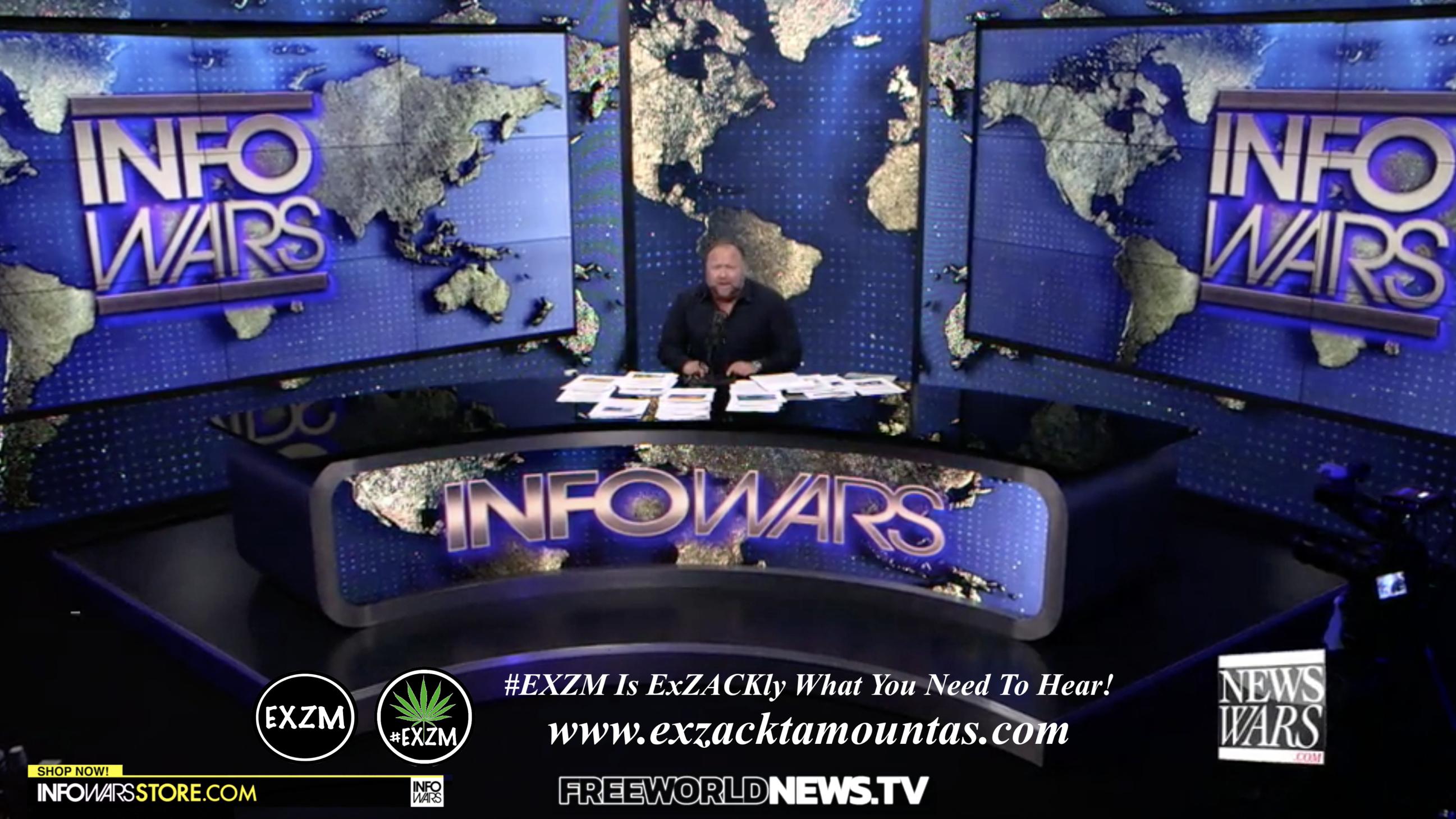Alex Jones Live In Infowars Studio Free World News TV EXZM Zack Mount August 12th 2021 copy