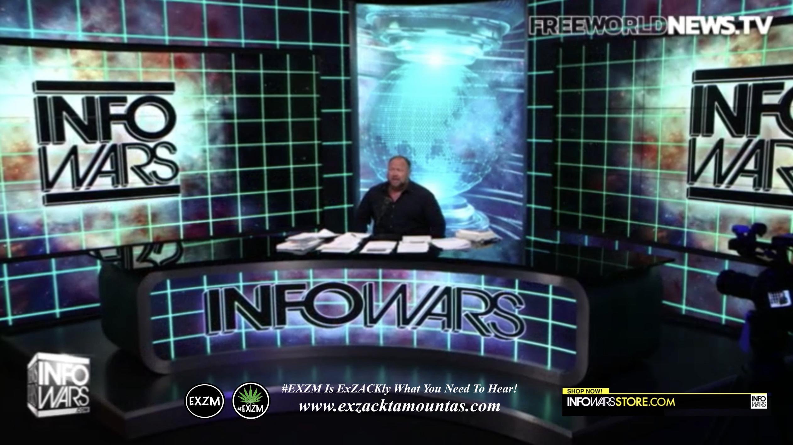 Alex Jones Live In Infowars Studio Free World News TV EXZM Zack Mount August 1st 2021 copy