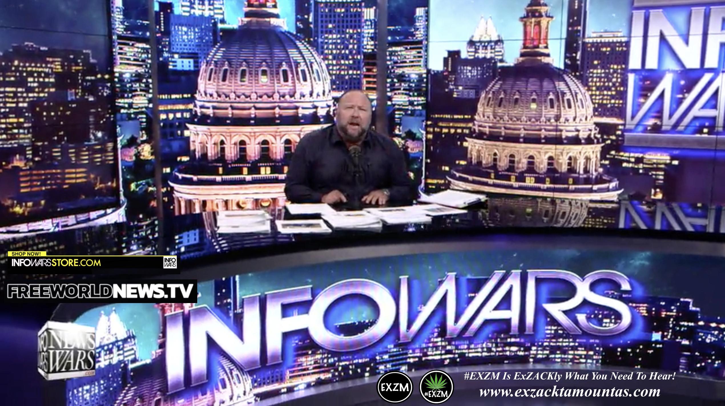 Alex Jones Live In Infowars Studio Free World News TV EXZM Zack Mount August 20th 2021 copy