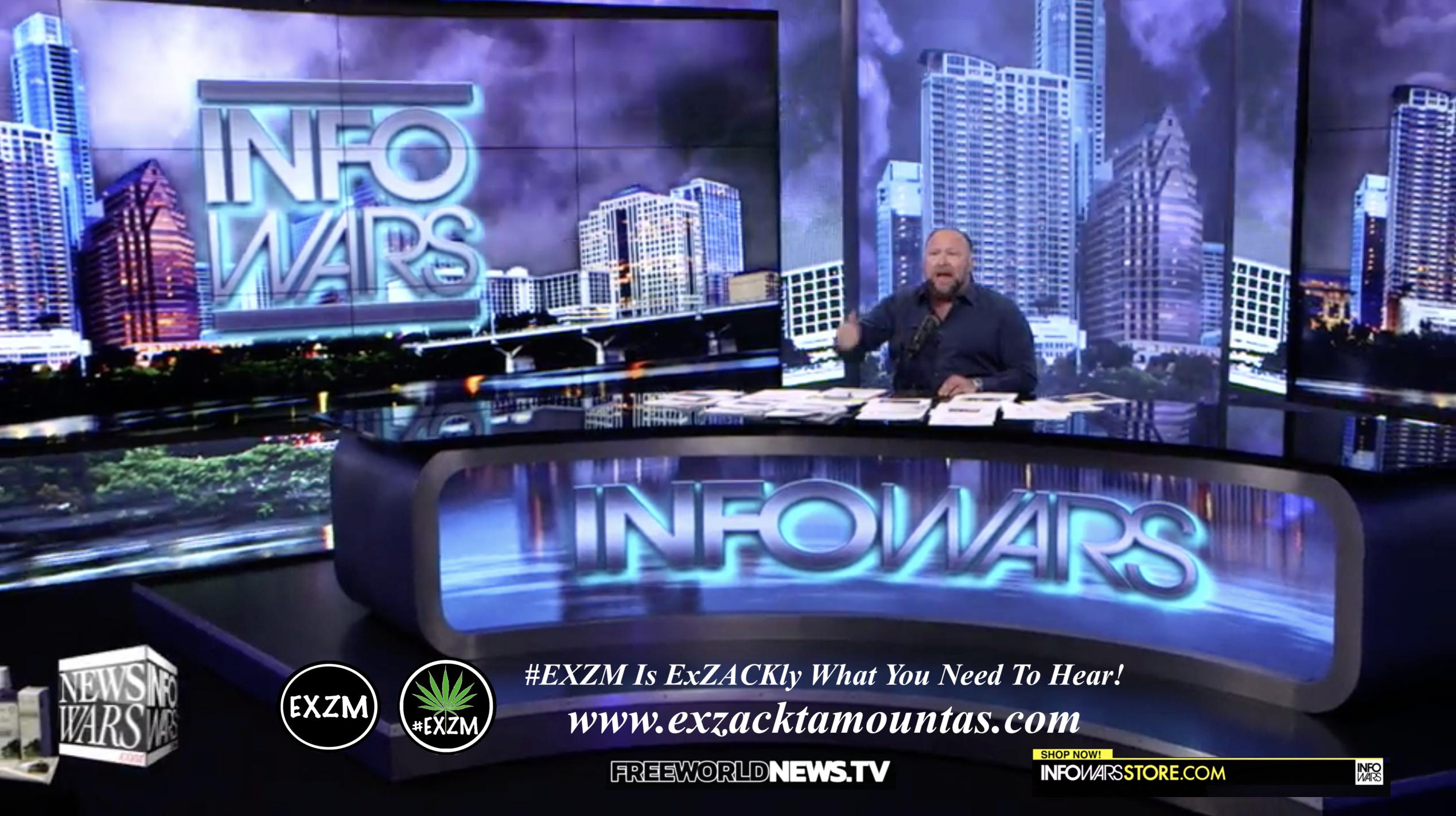 Alex Jones Live In Infowars Studio Free World News TV EXZM Zack Mount August 24th 2021 copy