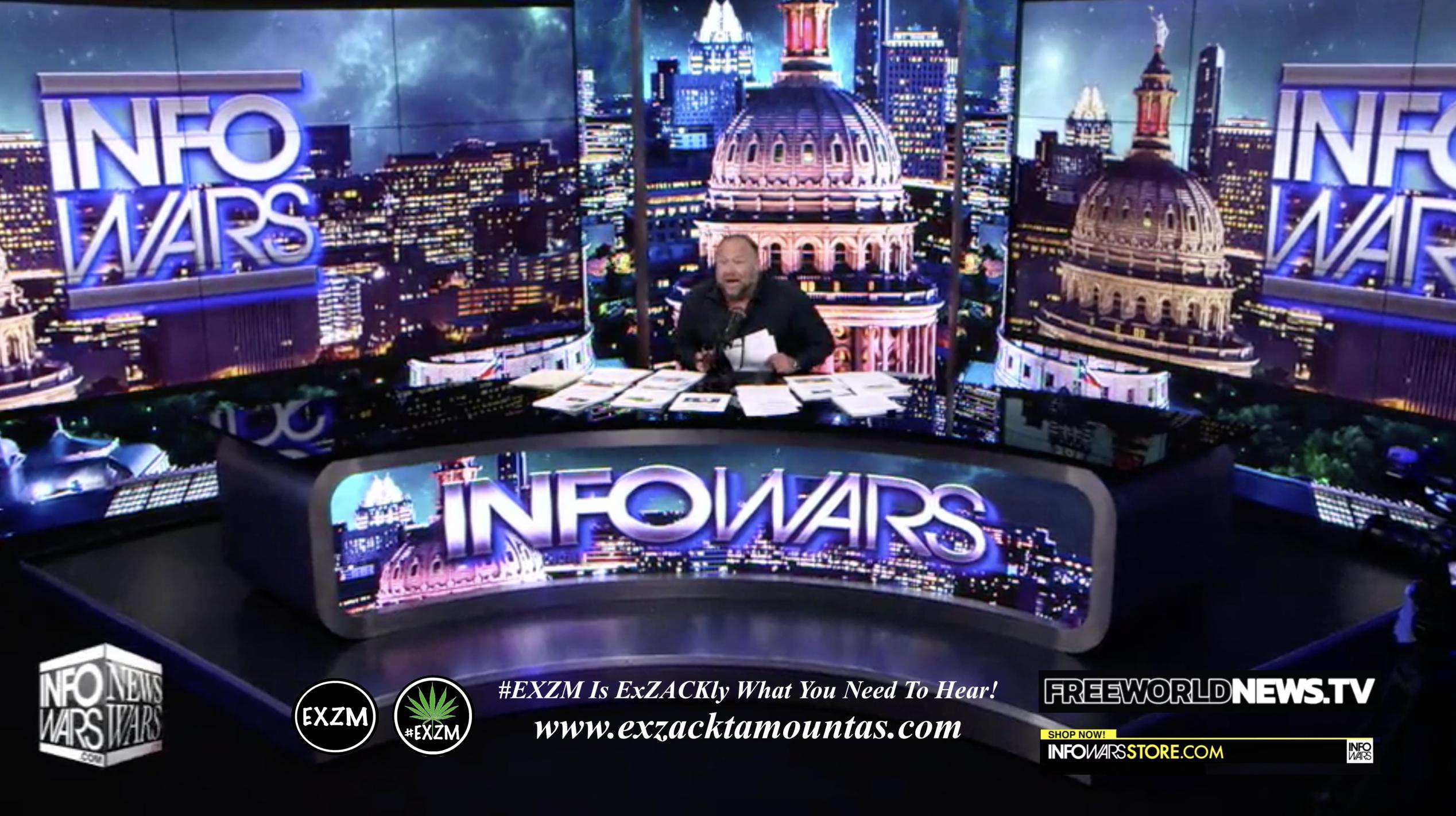 Alex Jones Live In Infowars Studio Free World News TV EXZM Zack Mount August 4th 2021 copy