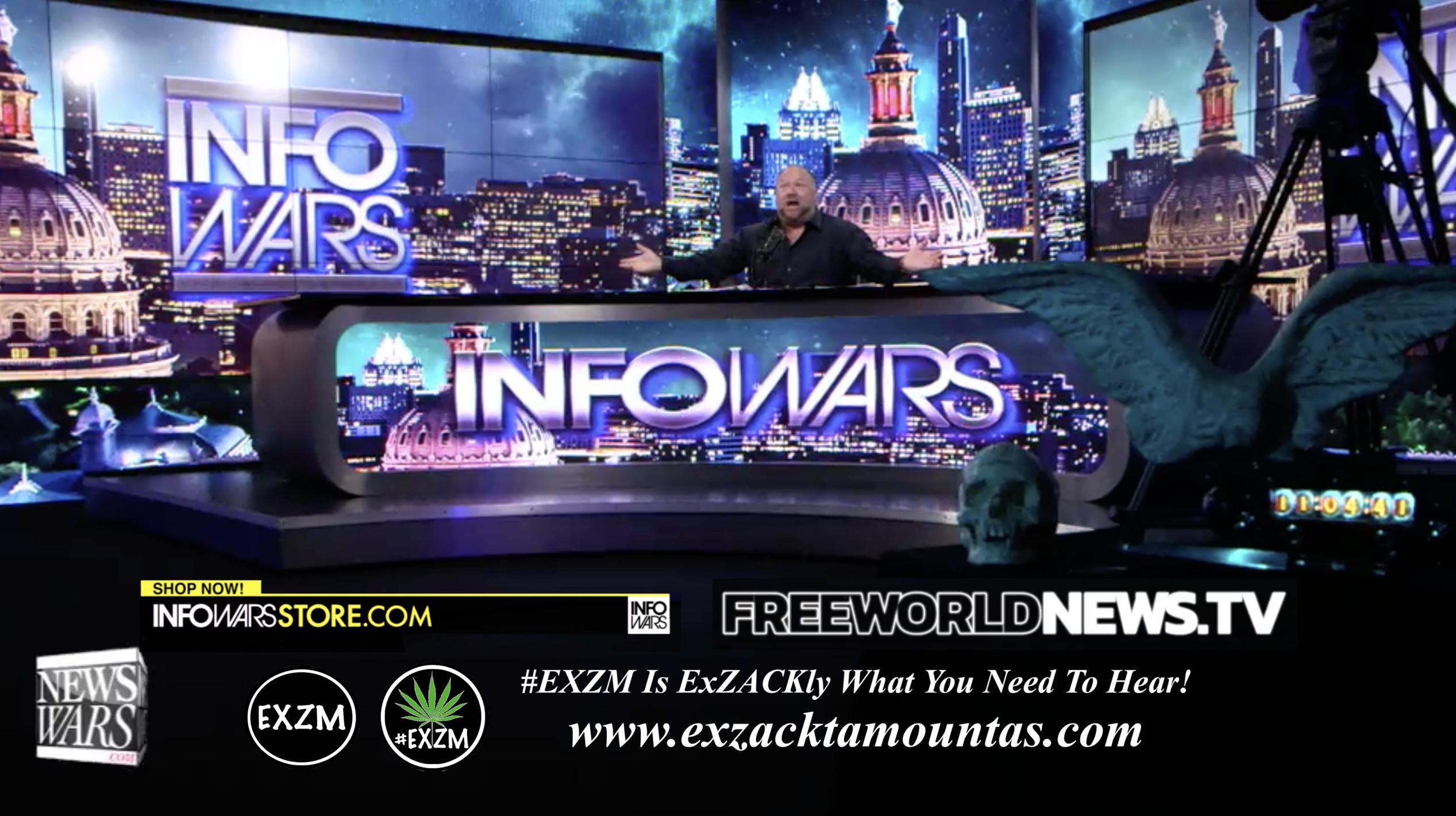 Alex Jones Live In Infowars Studio Free World News TV EXZM Zack Mount August 6th 2021 copy