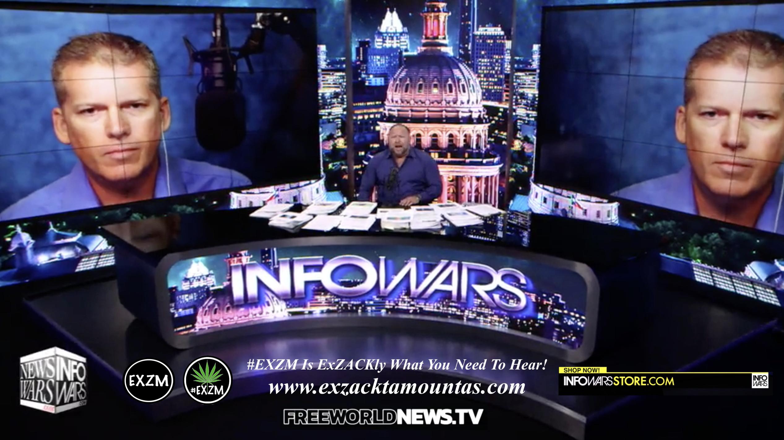 Alex Jones Mike Adams Live In Infowars Studio Free World News TV EXZM Zack Mount August 9th 2021 copy