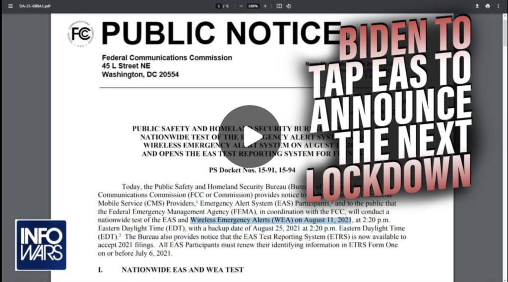 Biden to Tap EAS to Announce the Next Lockdown in Mid August EXZM Zack Mount August 5th 2021