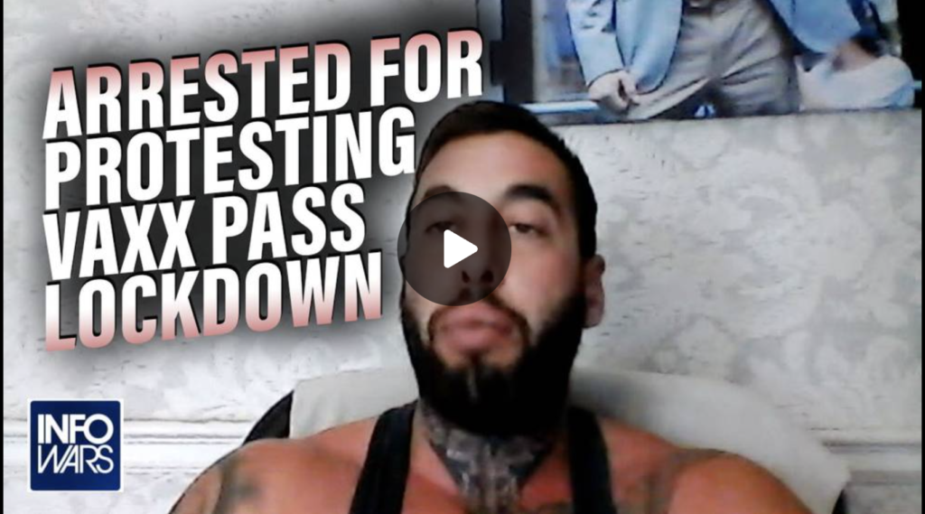 Chris Sky Responds to Arrests After Protesting Vaxx Pass EXZM Zack Mount August 27th 2021