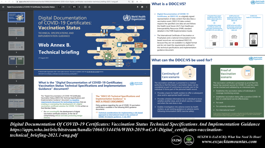Digital Documentation Of COVID19 Certificates Vaccination Status Technical Specifications And Implementation Guidance EXZM Zack Mount August 31st 2021