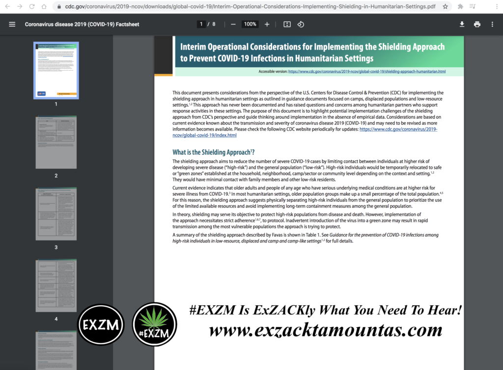 Interim Operational Considerations for Implementing the Shielding Approach to Prevent COVID19 Infections in Humanitarian Settings CDC July 26th 2020 pdf EXZM Zack Mount August 10th 2021