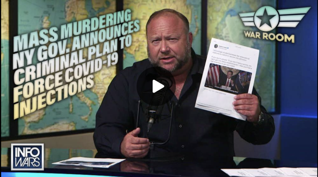 Mass Murdering NY Gov Announces Criminal Plan to Force Covid19 Injections EXZM Zack Mount August 2nd 2021