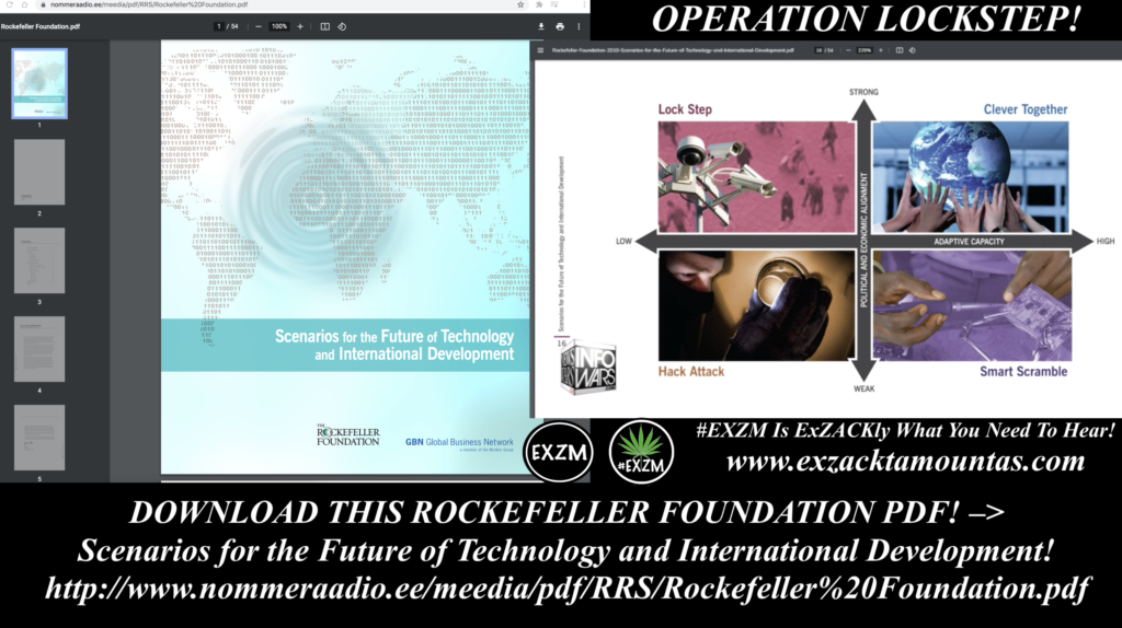 OPERATION LOCKSTEP DOWNLOAD THIS ROCKEFELLER FOUNDATION PDF Scenarios for the Future of Technology and International Development EXZM Zack Mount August 27th 2021