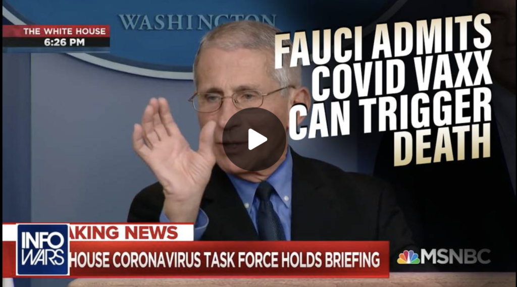 SMOKING GUN Fauci Admits COVID Vaccines Can Trigger Death EXZM Zack Mount August 25th 2021