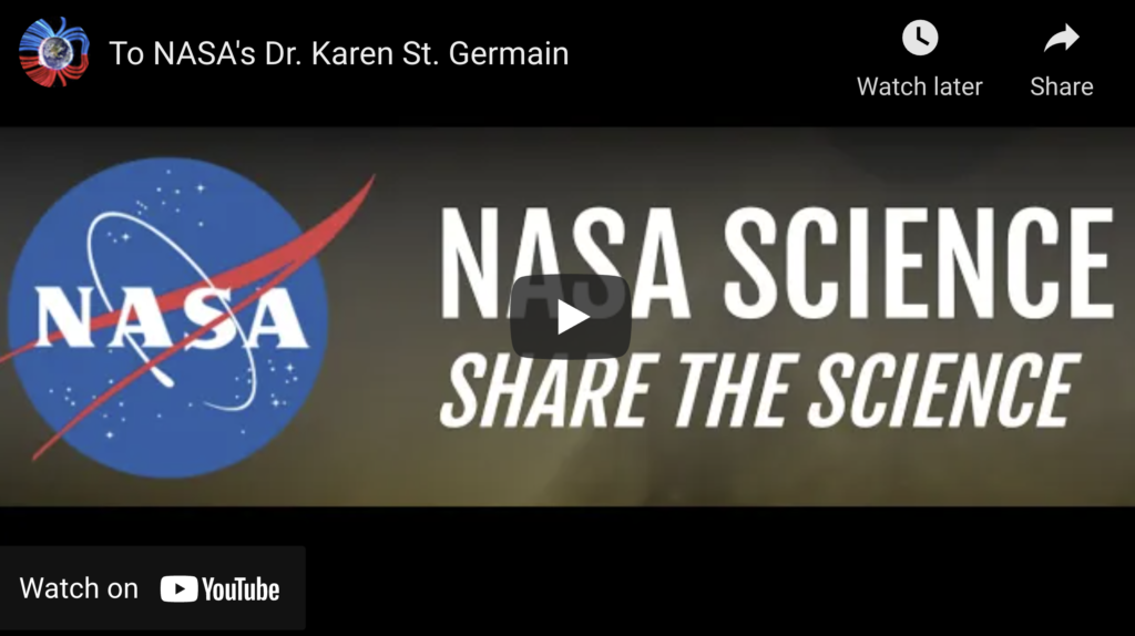 Suspicious Observers Post To NASAs Dr Karen St Germain EXZM Zack Mount August 22nd 2021