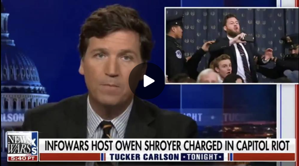 VIDEO Tucker Carlson confirms FBI STAGED JANUARY 6th EXZM Zack Mount August 22nd 2021