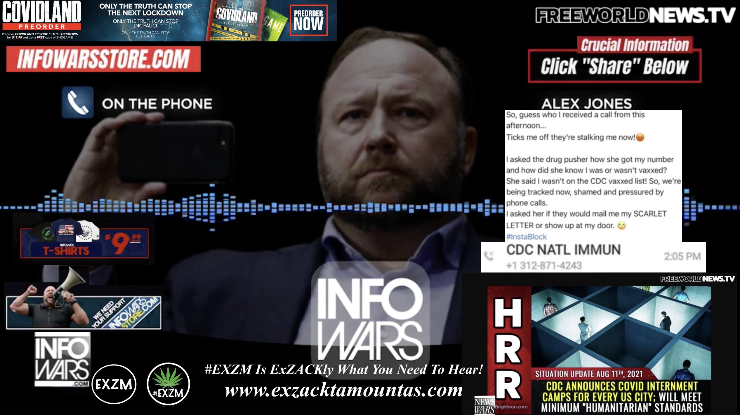 Alex Jones Live In Infowars Studio Free World News TV EXZM Zack Mount September 30th 2021 copy