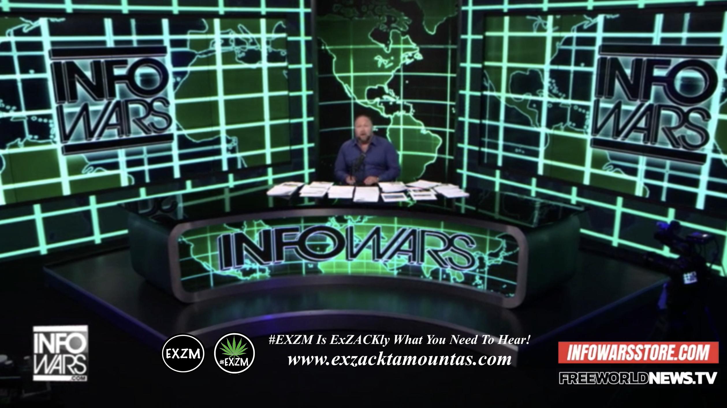 Alex Jones Live In Infowars Studio Free World News TV EXZM Zack Mount September 5th 2021 copy