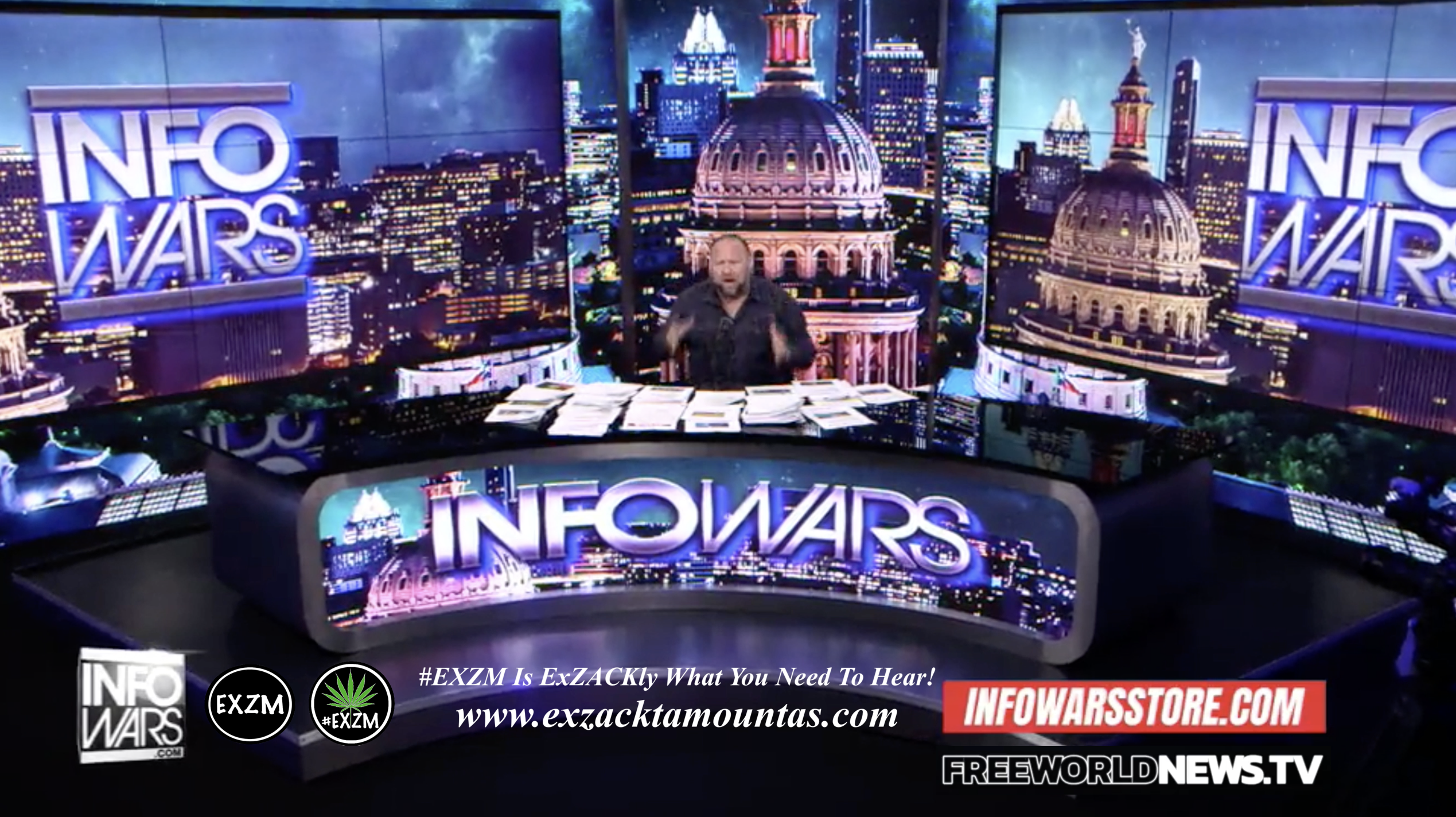 Alex Jones Live In Infowars Studio Free World News TV EXZM Zack Mount September 8th 2021 copy