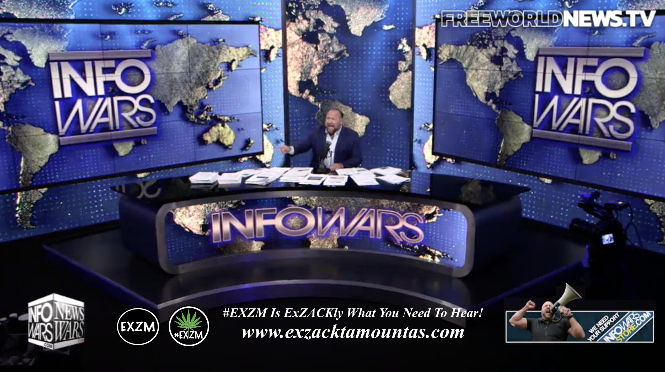 Alex Jones Live In Infowars Studio Free World News TV EXZM Zack Mount September 9th 2021 copy