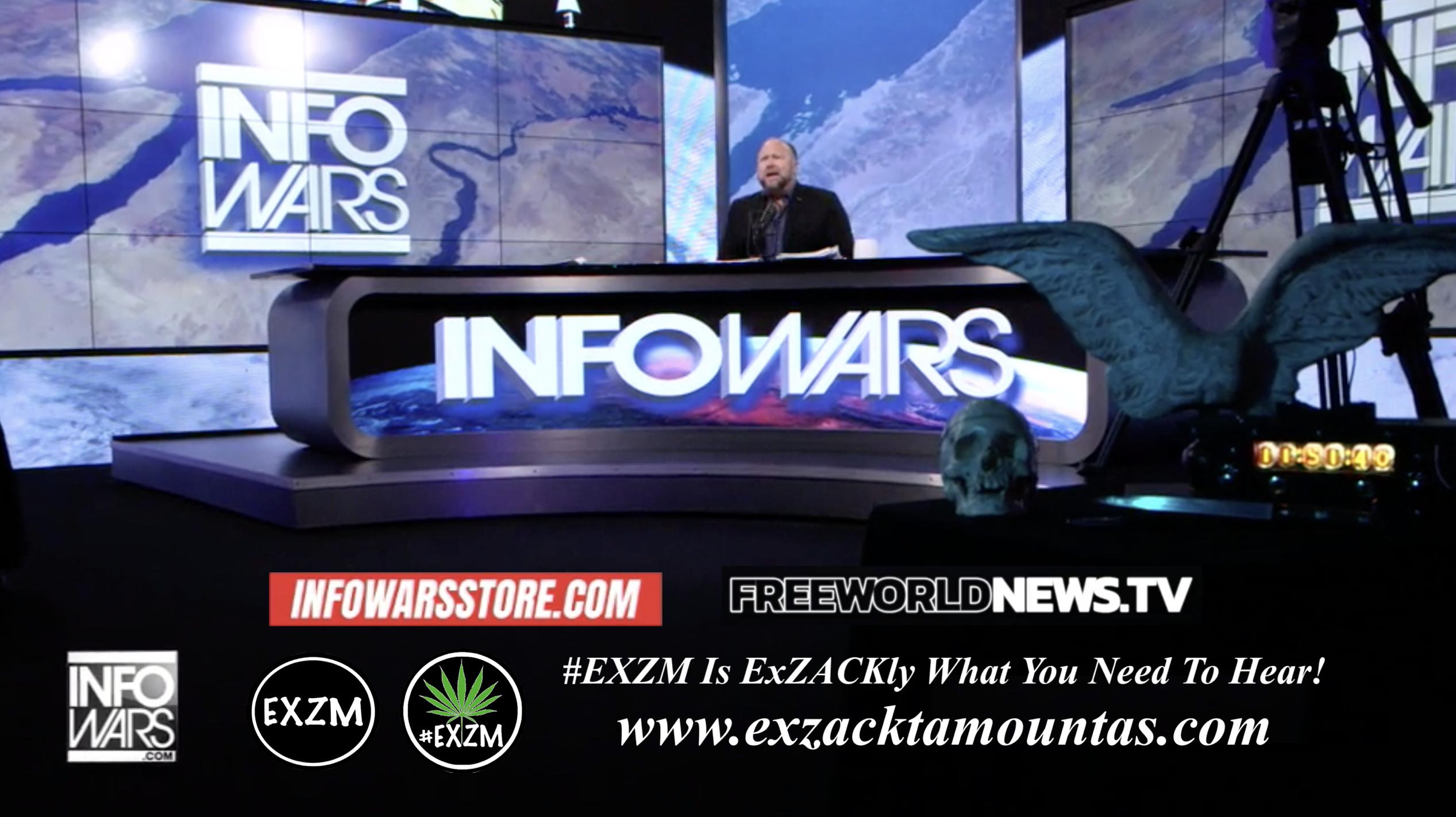 Alex Jones Live In Infowars Studio Human Skull Angel Wings Dagger Free World News TV EXZM Zack Mount September 6th 2021 copy