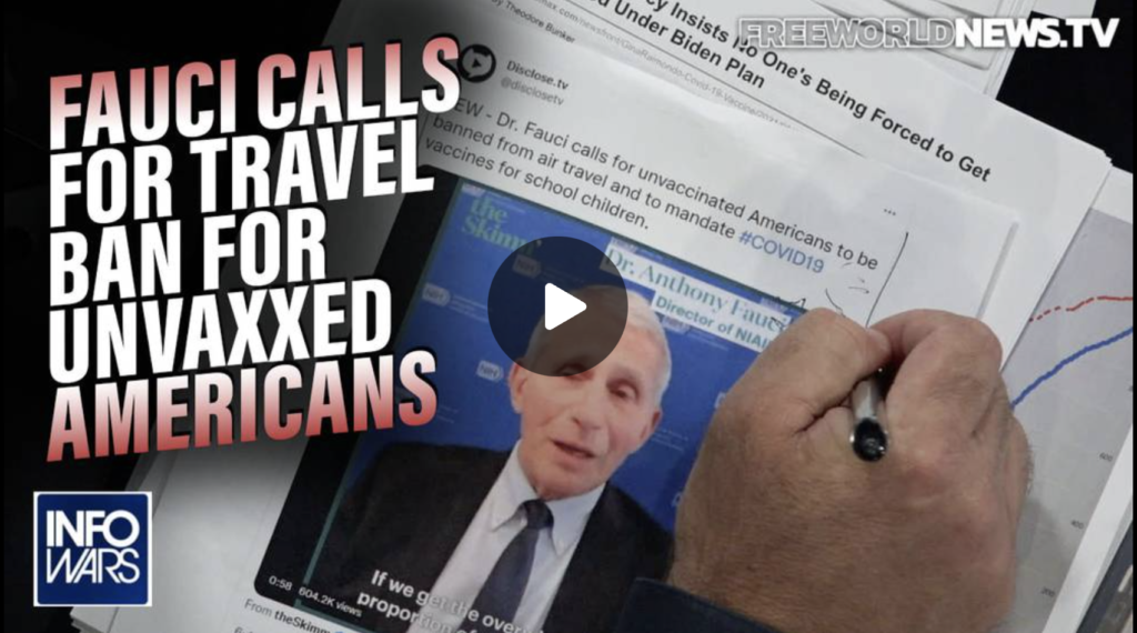 Architect of the COVID19 Bioattack Calls for Travel Ban for Unvaxxed Americans EXZM Zack Mount September 14th 2021