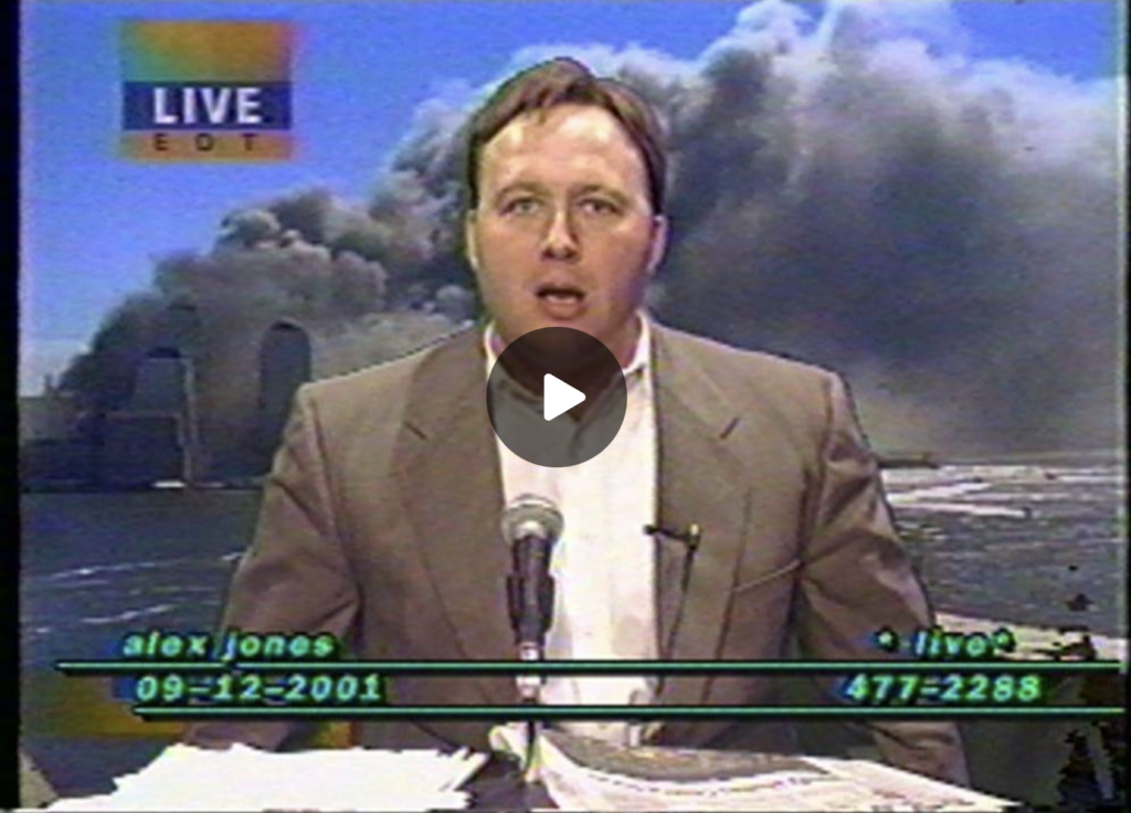 Censored by Youtube September 12 2001 Alex Jones The Day After The Shocking Terror Attack EXZM Zack Mount September 16th 2021