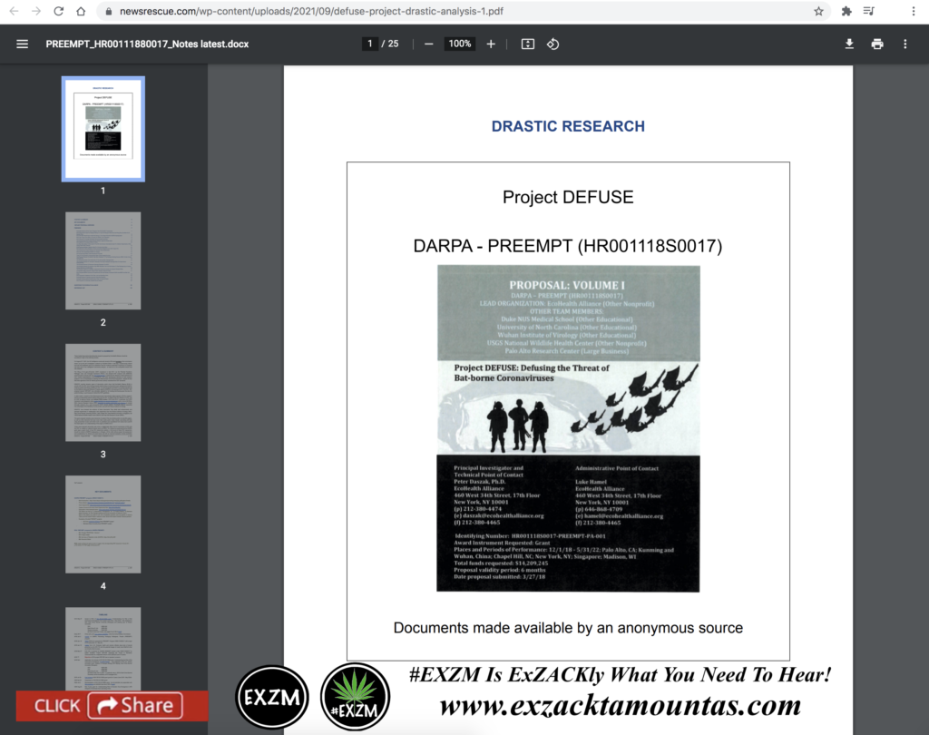 DRASTIC RESEARCH Project DEFUSE DARPA - PREEMPT (HR001118S0017) EXZM Zack Mount September 22nd 2021