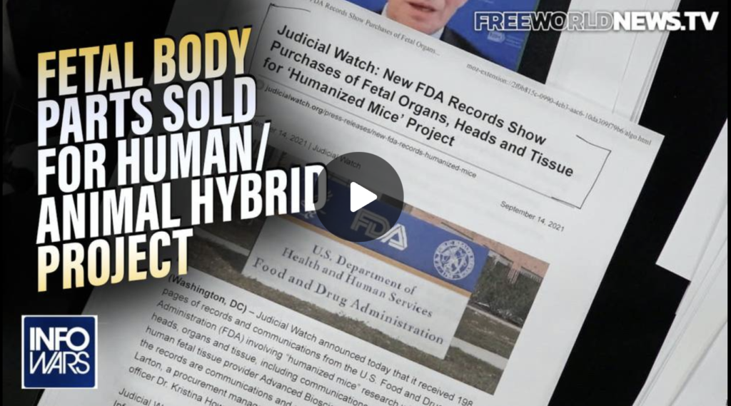 FDA Records Fetal Body Parts Sold for Human Animal Hybrid Project EXZM Zack Mount September 14th 2021