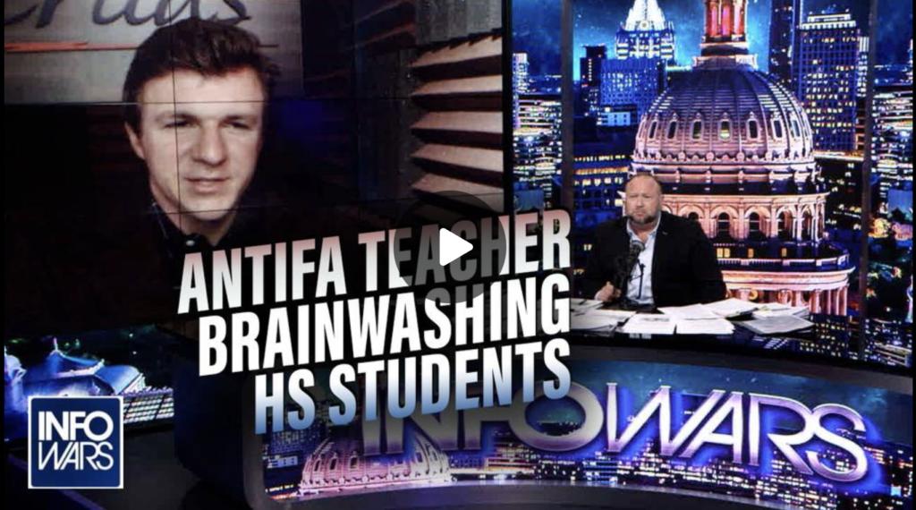 James OKeefe Joins Infowars to Expose Antifa Activist Teacher Brainwashing High School Students EXZM Zack Mount August 31st 2021