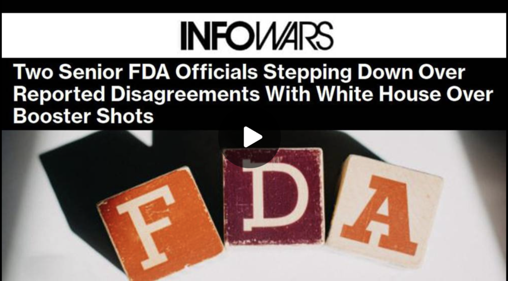 Leaders of FDA Vaccine Program Resign Over Biden Move to Inject Children with Deadly COVID Vaxx EXZM Zack Mount September 1st 2021