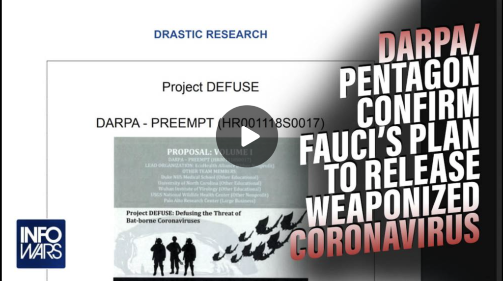 MAXIMUM RED ALERT Pentagon Confirms Fauci Created and Released COVID19 EXZM Zack Mount September 22nd 2021