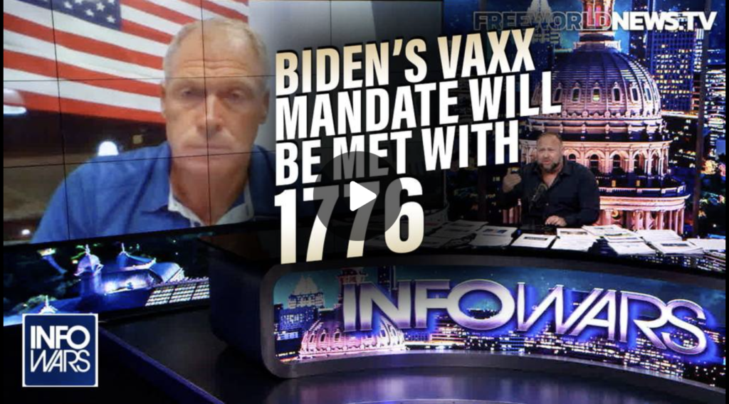 Major Food Industry Employer Bidens Tyrannical Vaxx Mandate will be Met with 1776 EXZM Zack Mount September 14th 2021