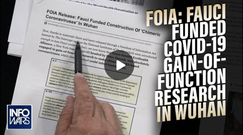SMOKING GUN Fauci Ordered Construction of COVID19 Virus FOIA Docs Show EXZM Zack Mount September 7th 2021