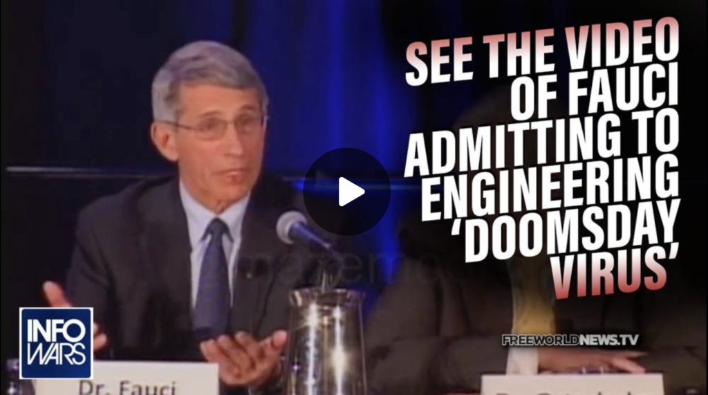 See the Video of Fauci Admitting to Engineering Doomsday Virus Through Gain of Function in 2012 EXZM Zack Mount September 8th 2021
