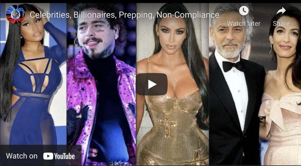 Suspicious Observers Post Celebrities Billionaires Prepping NonCompliance EXZM Zack Mount September 20th 2021