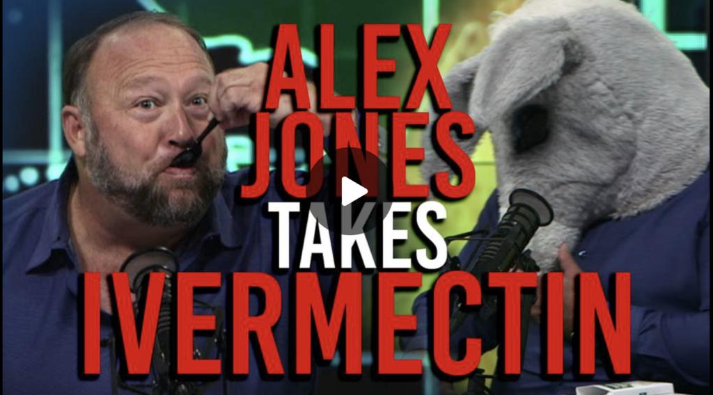 VIDEO Alex Jones Takes Ivermectin Horse Paste ON AIR EXZM Zack Mount September 5th 2021