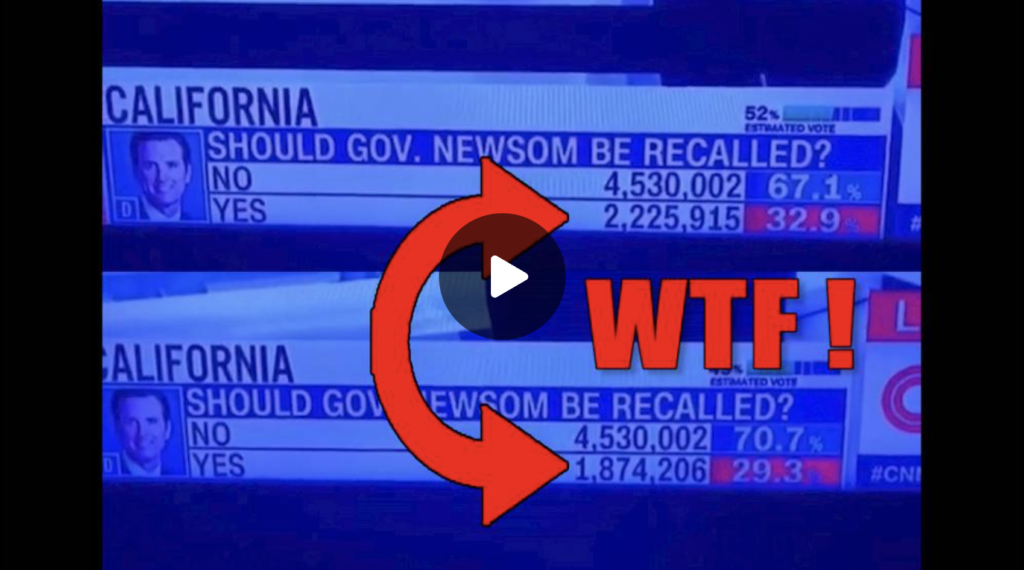 WTF YES to Recall Drops 400K Votes LIVE on TV EXZM Zack Mount September 15th 2021