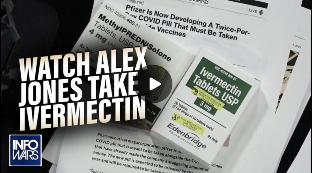 Watch Alex Jones Take Nobel Prize Winning Drug Ivermectin EXZM Zack Mount September 2nd 2021