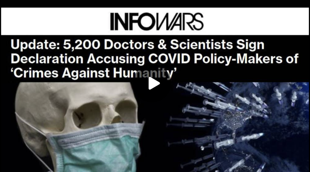 5200 Doctors Scientists Sign Declaration Accusing COVID PolicyMakers of Crimes Against Humanity EXZM Zack Mount September 28th 2021