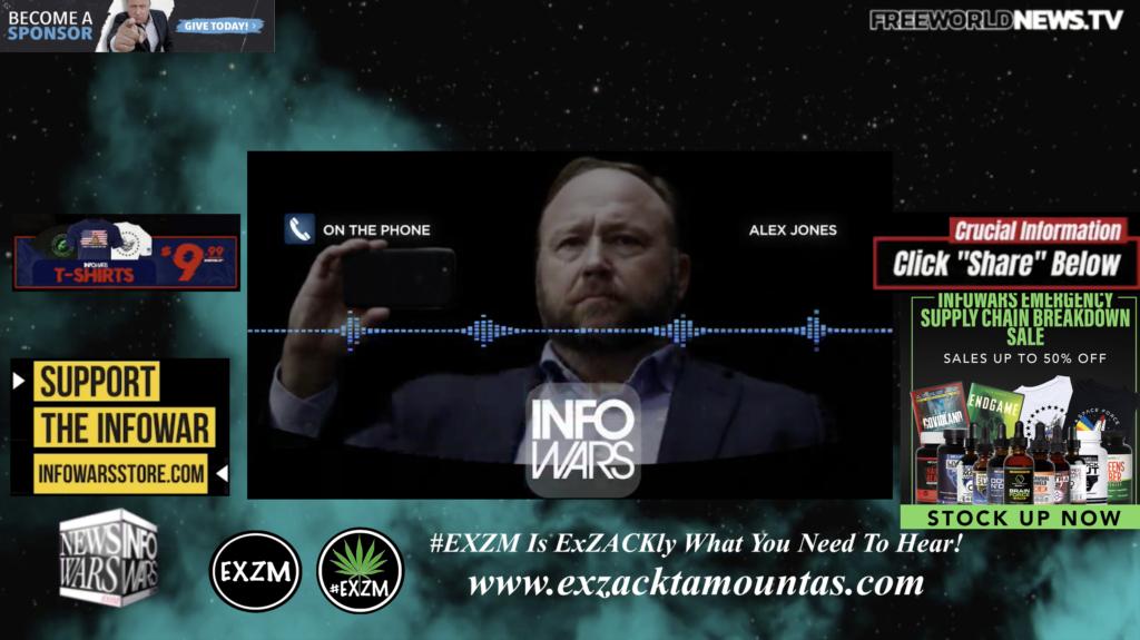 Alex Jones Live In Infowars Studio Free World News TV EXZM Zack Mount October 14th 2021 copy