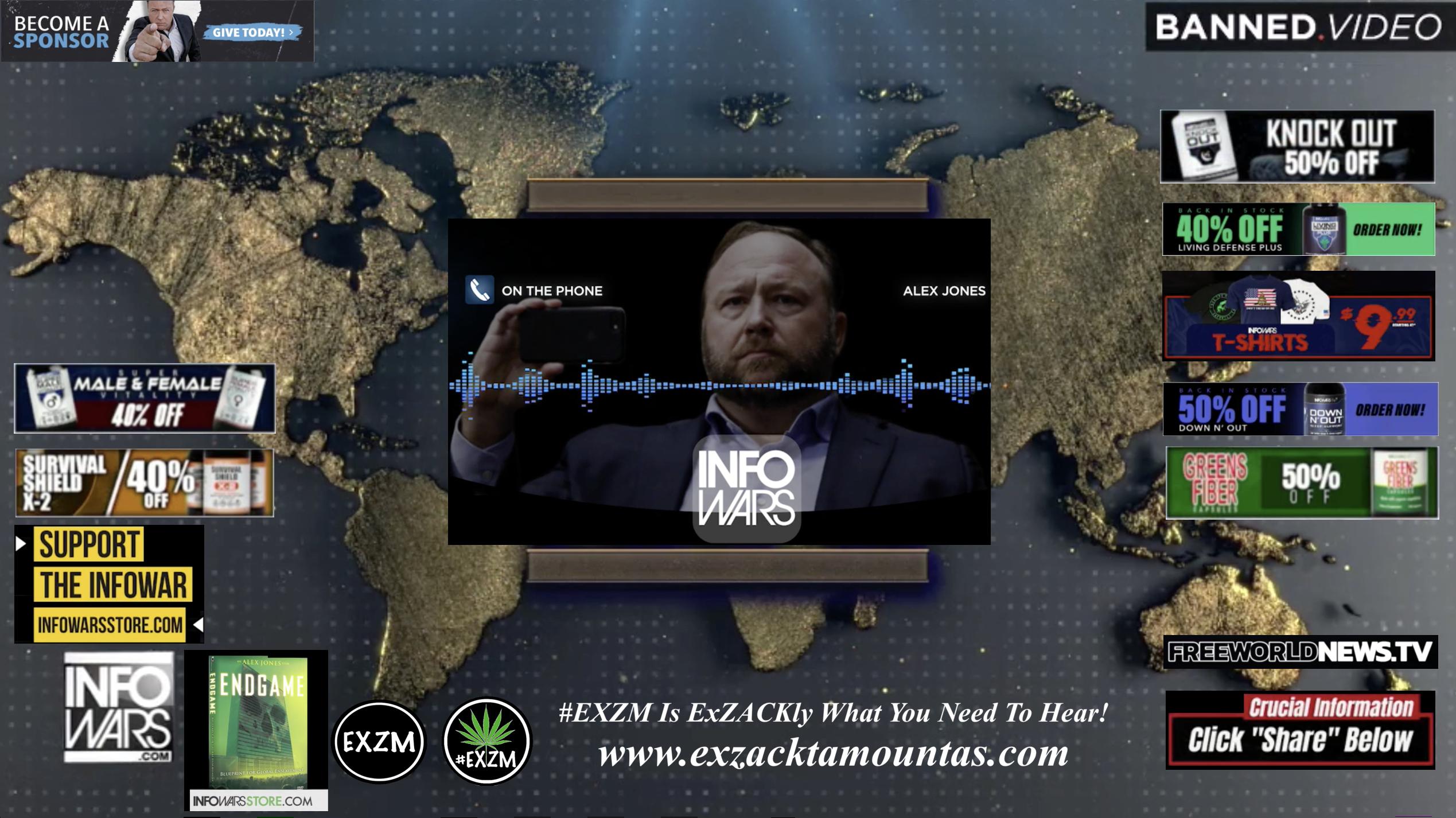 Alex Jones Live In Infowars Studio Free World News TV EXZM Zack Mount October 15th 2021 copy
