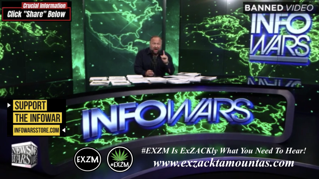 Alex Jones Live In Infowars Studio Free World News TV EXZM Zack Mount October 19th 2021 copy