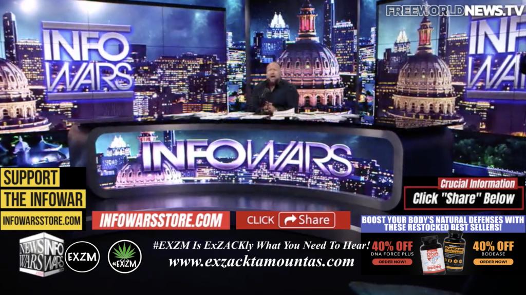 Alex Jones Live In Infowars Studio Free World News TV EXZM Zack Mount October 21st 2021 copy