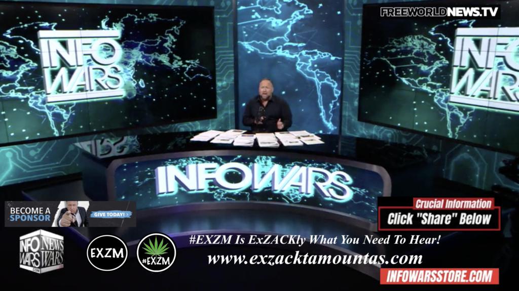 Alex Jones Live In Infowars Studio Free World News TV EXZM Zack Mount October 25th 2021 copy